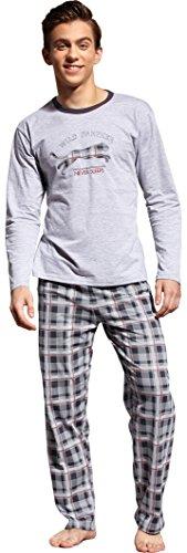 Cornette Jungen Pyjama Panther (Melange/Graphite, 164/XS)