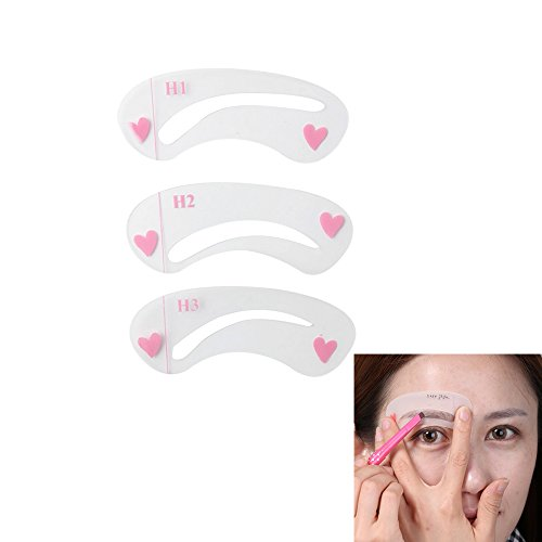 Iebeauty 3 Styles Eyebrow Grooming Stencil Kit Template Shaping Shaper Assistant DIY Tools