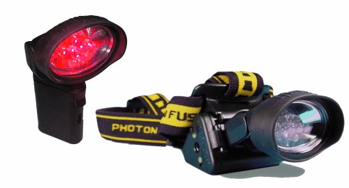 LRI FR Freedom Fusion 6 Red, 2 Yellow LED Headlamp - 6 Fusion Red