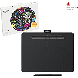 "Wacom Intuos Wireless Graphic Tablet, with 3 Free Creative Software downloads, 10.4"" x 7.8"", Black (CTL6100WLK0)"