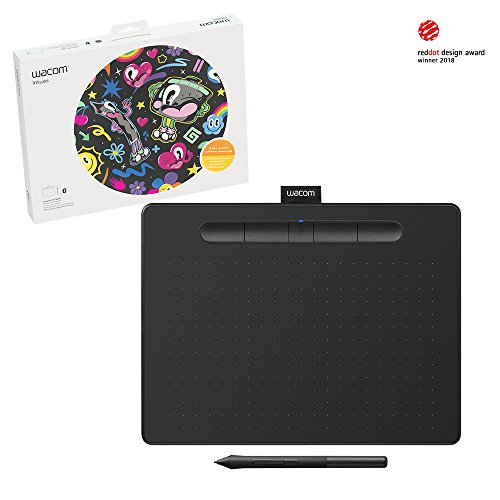 Wacom Intuos Wireless Graphic Tablet, with 3 Free Creative Software downloads, 10.4'' x 7.8'', Black (CTL6100WLK0) by Wacom