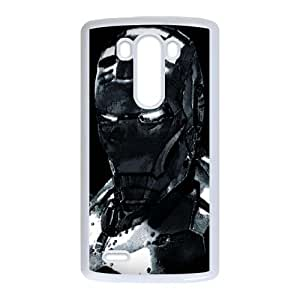 Iron Man LG G3 Cell Phone Case White Cover protective Skin Shield PJZ003-2310664