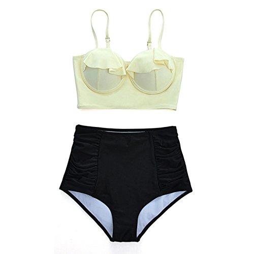 Retr Verso Bagno Spingono Bikini Usura Del L'alto Vecchio Femminile Costume Delle Da Serie Swimwear Beach Donne Vita Lo Macxy Sexy Alta Szxwq1nR