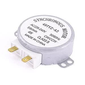SODIAL(R) Motor sincronico de la plataforma giratoria del horno de microonda CW / CCW 4W 5 / 6RPM AC 240V