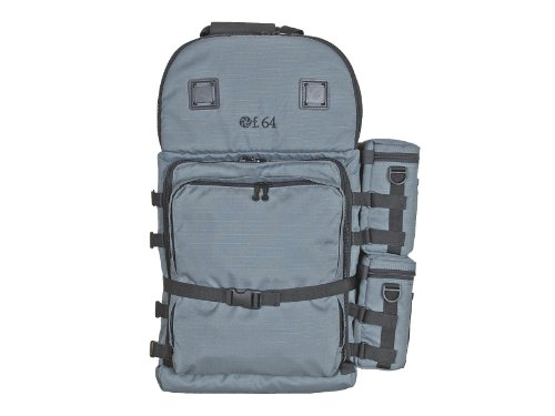 F.64 BPX Grey - Ex. Large Professional Photography Backpack - for SLR DSLR Multiple Lenses Camera Accessories Water Proof Rain Cover Gear Travel Gadget Padded Waterproof Digital Professional Gadget Bag