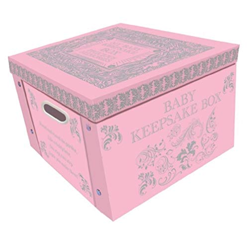 Robert Frederick Large Collapsible Memory Storage Box | Pink My Baby Keepsake Memory Box | The Boxes for Any Newborn Baby Boy or Baby Girl