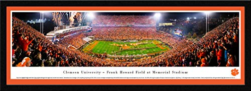 Clemson Football - 42x15.5-inch Single Mat, Select Framed Picture by Blakeway Panoramas