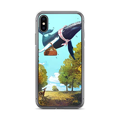 iPhone X/XS Case Anti-Scratch Creature Animal Transparent Cases Cover Autumn Stranger Animals Fauna Crystal Clear ()