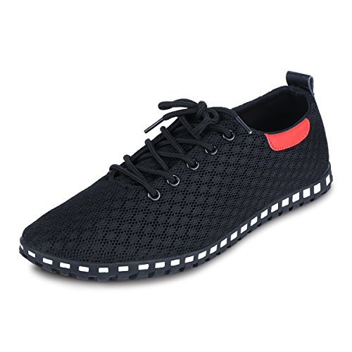 Black Mesh Shoes Casual Fabric Breathable Men's EASTIANO Shoes 8FqBn0nx