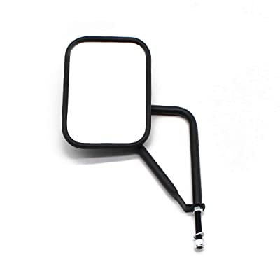 FLYFISH Jeep mirror, Jeep door mirror, doorless mirror adapted to CJ YJ TJ JK JL unlimited, quick mount mirror, 2 pack: Automotive