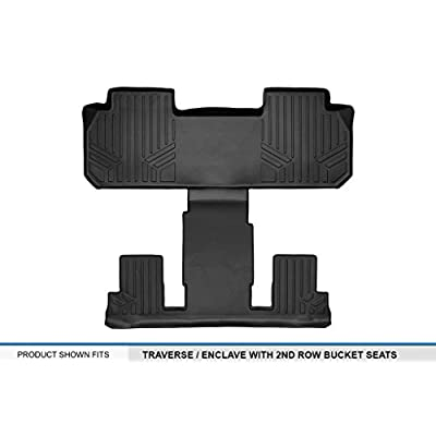 MAXLINER Floor Mats 2nd and 3rd Row Liner Black for 2020-2020 Chevrolet Traverse / Buick Enclave with 2nd Row Bucket Seats: Automotive