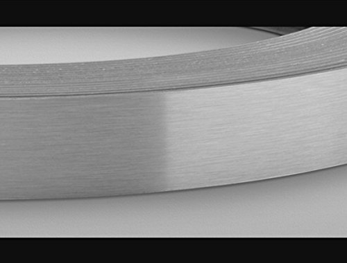 Brushed Aluminum Stainless Steel 7/8'' X 25' X 1mm Thickness Edgebanding Automatic Roll - Non Glued - Made in USA. by Edge Supply (Image #3)