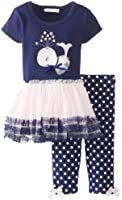 Bonnie Baby Baby Girls' Whale Applique Tutu with Capri