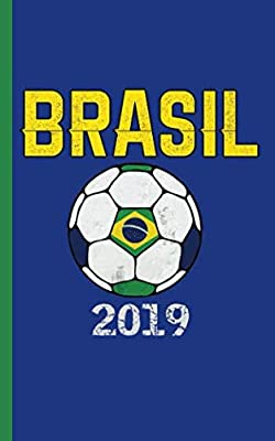 "Brazil Flag Soccer Ball Journal - Notebook: Patriotic Brasil Brazilian DIY Writing Note Book - 100 Lined Pages + 8 Blank Sheets, Small 5x8"" (Soccer Gear Gifts Vol 1)"