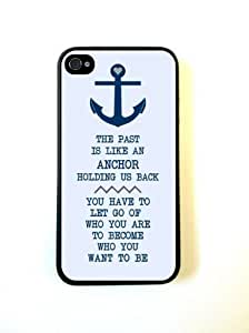 Anchor Nautical Quote iPhone 4 Case Fits iPhone 4 & iPhone 4S by icecream design
