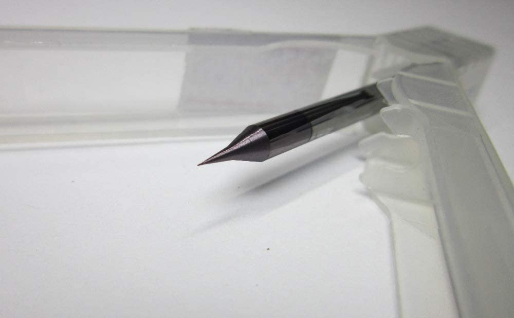 5PCS micro end mills radius 0.1MM HRC55 Tungsten Carbide ball nose End Mill 2 flutes Milling Cutters diameter 0.2mm