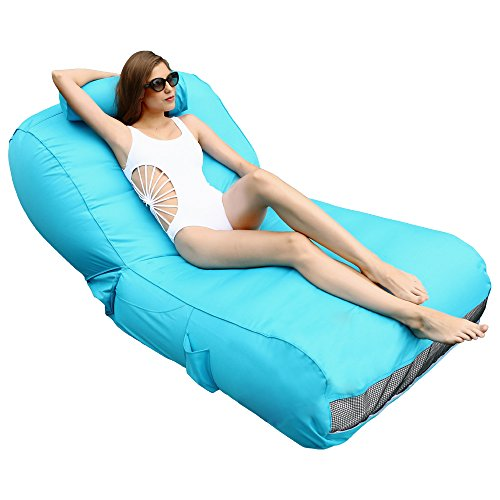 Ove Decors Inflatable Pool Float Lounger, Blue
