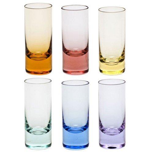 Vodka Shots Vodka Set 6 Multicolor 2.5 OZ.