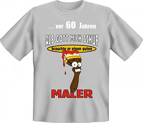 Lustiges T-Shirt zum 60. Geburtstag für Maler - Witzige Geschenk Idee für Handwerker
