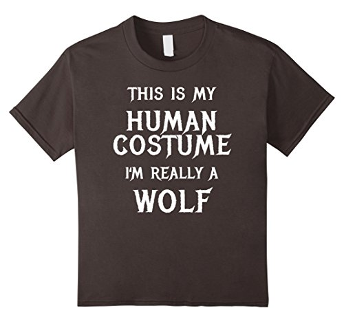 Kids Wolf Halloween Costume Shirt Easy Funny for Men Boys Girls 12 Asphalt - Easy Diy Halloween Costumes For College Girls