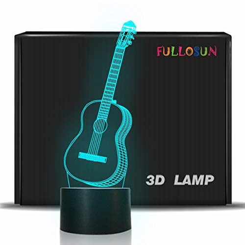 3D Night Light Guitar Gifts for Music Lover,