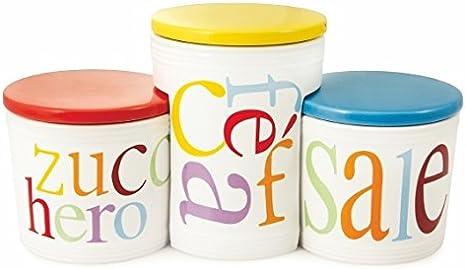 Villa dEste Home Tivoli Tris barattoli victionary Ceramica Sale Zucchero caff/è