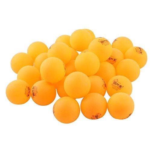 eDealMax Plastique Sport Training Table Tenni Lavable Ping Pong 40mm Dia 30pcs Orange by eDealMax