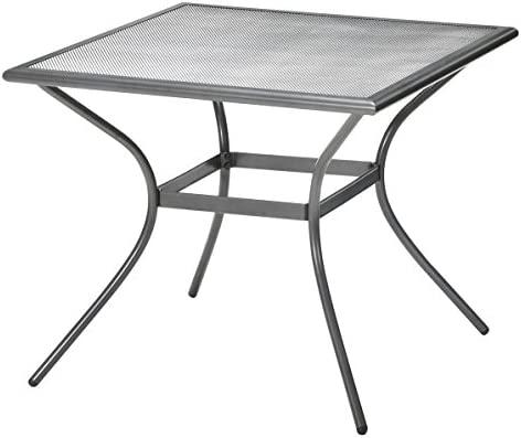 JYSK Mesa larvik 88 x 88 cm de Aluminio/Acero: Amazon.es: Hogar