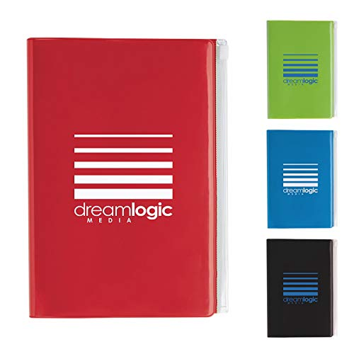 Good Value Clear Pocket Journal Red 100 Pack