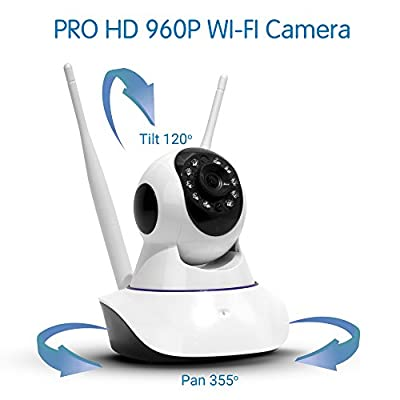 TBI 2017 NEW Wireless Security Camera - BEST Wifi Video Cameras - PRO HD 960P/ 720p - IP Pan/Tilt Smart Video Baby Monitor - P2P Digital Cameras for Home Surveillance. Connect iPhone iOS, Android by The Best Industries that we recomend individually.