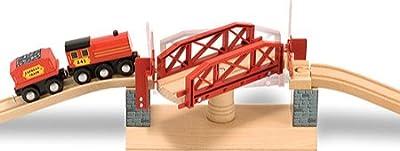 Melissa & Doug Children's Swivel Bridge Train Set | Learning Toys
