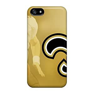 Iphone 5/5s DyT18902FnPa Unique Design Realistic New Orleans Saints Pictures Shock Absorbent Hard Phone Cases -AlainTanielian