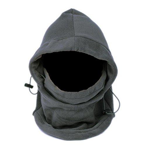 OneTigris Outdoor Fleece Sturmhaube Balaclava Gesichtshaube Skimaske Schlupfmütze (Grau)
