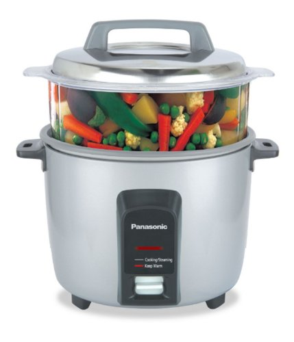 Panasonic SR-Y18FHS 660-Watt Automatic Electric Cooker 4.4 Litre with Non Stick Cooking Pan and...
