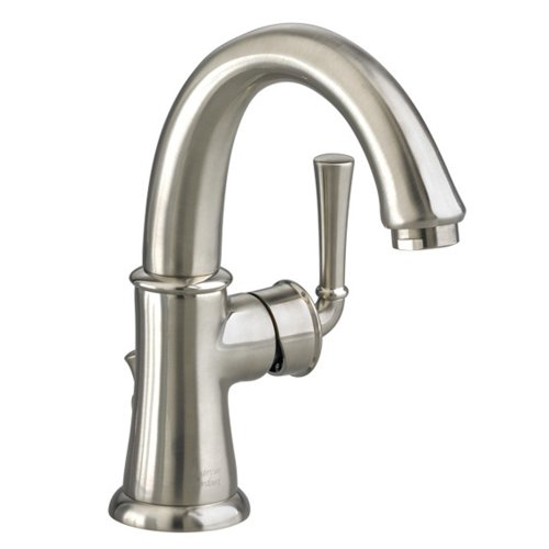 American Standard 7420.101.295 Portsmouth Monoblock Lavatory Faucet with Speed Connect Drain with Lever Handle, Swivel Spout, Satin Nickel