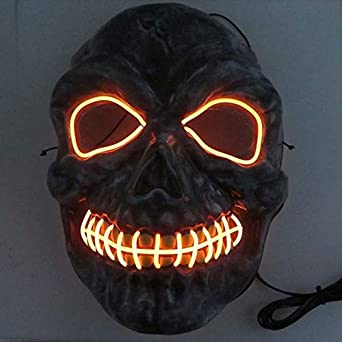 Amazon.com: Halloween Mask Neon Masks Halloween Scary Skull ...