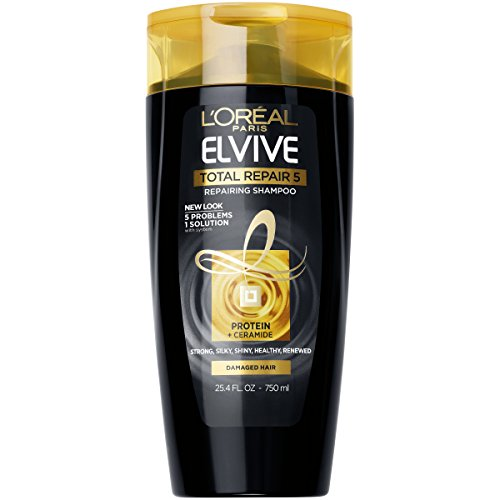 L'Oréal Paris Elvive Total Repair 5 Repairing Shampoo, 25.4 fl. oz. (Packaging May Vary)