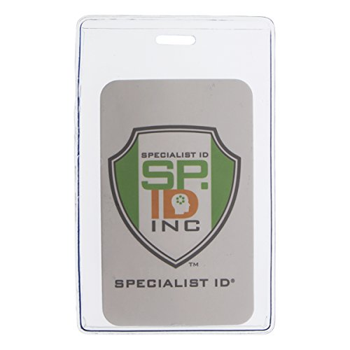 Clear Heavy Duty Vinyl Vertical Proximity Card Holder by Specialist ID, Packaged and Sold Individually (Holders Vinyl Card Soft)