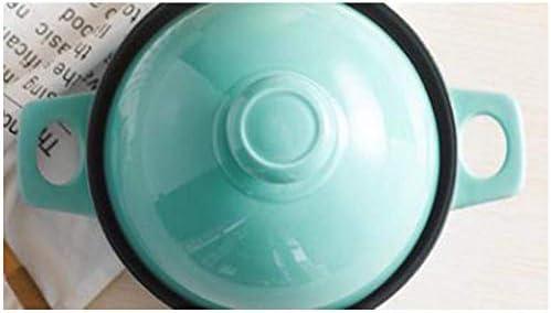 WZF Casserole en Fonte Pot en Argile Cuiseur à Riz Pot à Soupe Pot en Pierre en céramique Résistance aux températures élevées Flamme Ouverte/Cuisinière à gaz Convient-Jaune