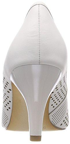 102 Woman's bianco Nappa Caprice White 22502 Pumps 8Swq0xf47