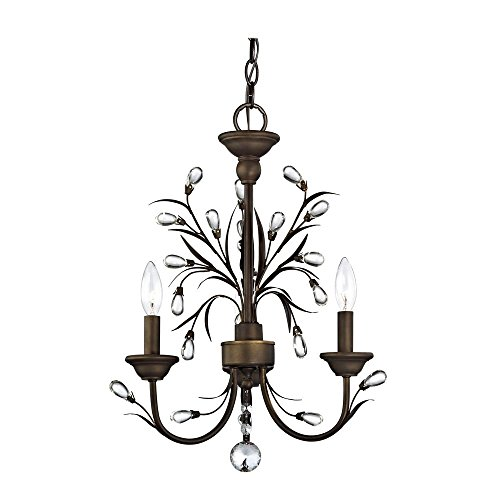 Crystal Mini-Chandelier with Three Lights