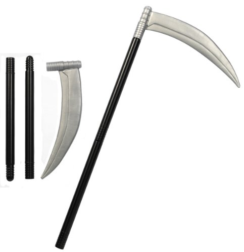 [Pams Men's Piece Plastic Scythe Halloween Fancy Accessory Death Grim Reaper (General Sizes & Size Ranges) Black And] (Scythe Halloween)
