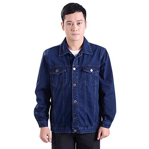 Outdoor Denim Jacket Outwear Jacket Blue Lightweight Denim Fashion Men's Dark XFentech Coat HTqwZZ