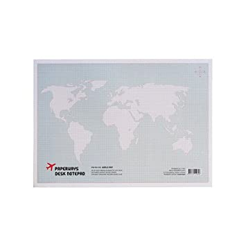 Paperways world map desk pad amazon office products paperways world map desk pad gumiabroncs Image collections