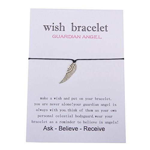 (Valyria Good Luck Wish Bracelet Gift Card Friendship Bracelet Fit for 14cm-28mm(5 4/8