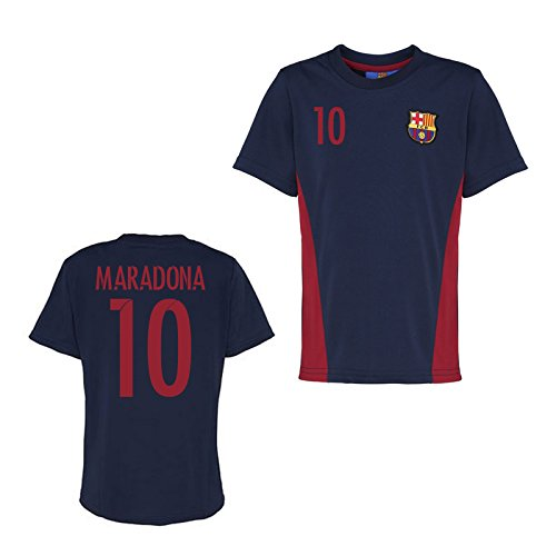 Official Barcelona Training T-Shirt (Navy) B01NBE4F3V Large Adults|Maradona 10 Maradona 10 Large Adults