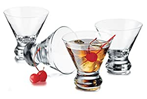 Libbey 4-Piece Cosmopolitan Cocktail/Martini Glasses, 8.25 Ounce, Clear