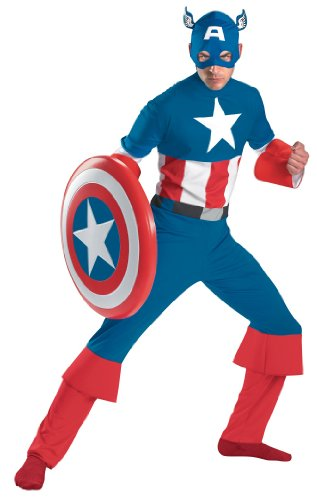 [Adult Captain America Classic Costume 42-46 XL] (Captain America Costumes For Adults)