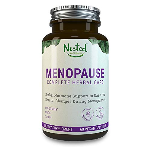 MENOPAUSE CARE Complete Complex | 60 Vegan Capsules | Naturally Sourced Black Cohosh Extract 40mg & Dong Quai Root | Mood Swings & Hot Flashes Relief Linked to Menopause | One A Day Womens Supplements (Best Black Cohosh Product)