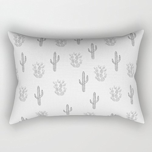 Cute Cactus Pattern Rectangle Pillow Covers Decorative Throw Pillows Cushion Covers 12 x 20 for Couch
